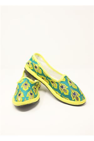 Green jaquard fabric Friulane handmade shoes Laboratorio Capri | 12 | BAKIJAQUARD
