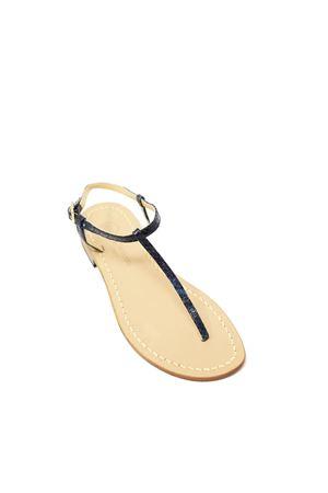 sandali in pelle infradito blu Da Costanzo | 5032256 | S1918PITONEMULTIBLU