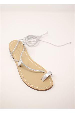 Silver capri sandals  Da Costanzo | 5032256 | SCHIAVATRECCINEALLUCEARGENTO