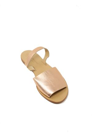 Rosy gold slipper Capri sandals  Da Costanzo | 5032256 | TV257ROSA