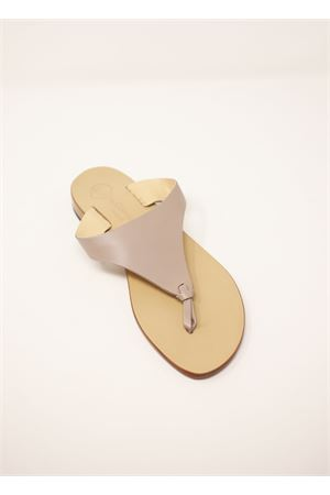 Gray Capri sandals with knot Da Costanzo | 5032256 | XV2497TAUPE