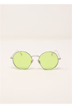 Round sunglasses with lime green lenses Medy Ooh | 53 | LOV128NGIALLO