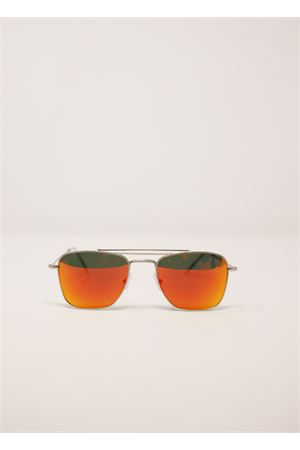 Golden frame sunglasses with orange mirrored lenses Medy Ooh | 53 | PORTORICOARANCIO