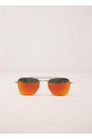 Occhiali da sole oro con lenti specchiate arancioni Medy Ooh | 53 | PORTORICOARANCIO