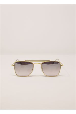 Occhiali da sole in metallo dorato con lenti specchiate Medy Ooh | 53 | PORTORICOGRIGIO