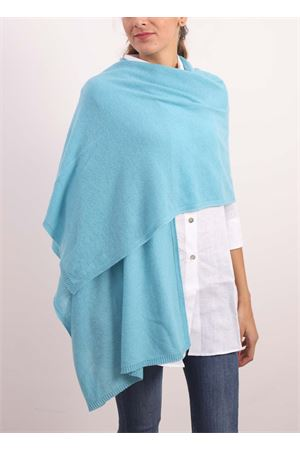 Blue stole maxi scarf  in pure cashmere  Nicki Colombo | 61 | STOLAAZZURRO