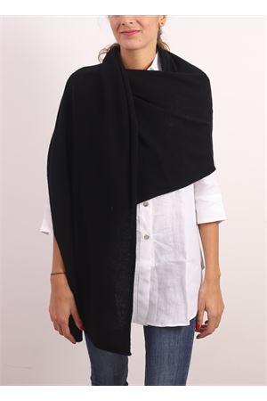 Stola - sciarpa grande 100%  cashmere nero Nicki Colombo | 61 | STOLANERO