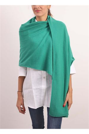 Green maxi scarf- stole in pure cashmere  Nicki Colombo | 61 | STOLAVERDE