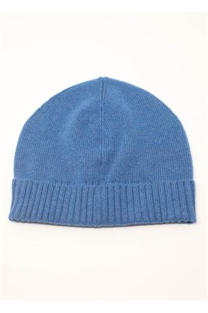 Blue unisex hat in pure cashmere  Nicki Colombo | 26 | CAPPELLOPETROLIO