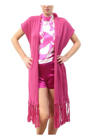 Dusta coat in merino fuchsia wool with fringes Capri Chic | 3 | GIACCA FRINGEFUXIA