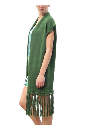Green merino wool jacket with fringes Capri Chic | 3 | GIACCA FRINGEVERDE
