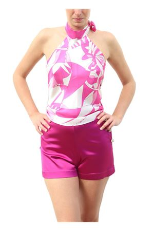 Fuchsia high waisted short Capri Chic | 30 | SHORT SILKFUXIA