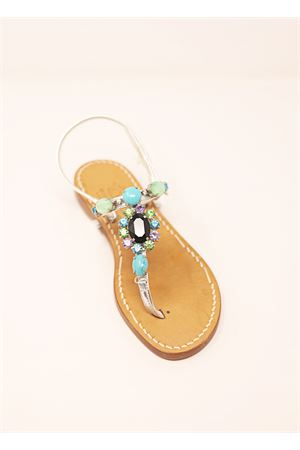 Capri jewel sandals  Cuccurullo | 5032256 | BLACKSTONENERO