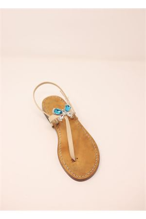 Jewel capri sandals with butterfly Cuccurullo | 5032256 | FARFALLABEIGE