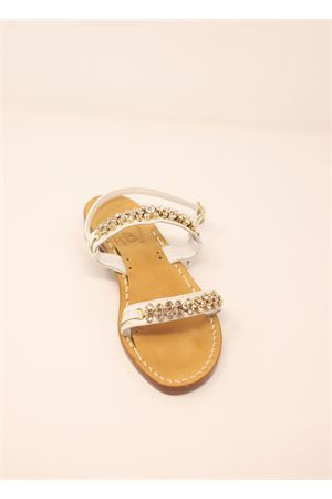 White jewel sandals not flip flops  Cuccurullo | 5032256 | FASCEBIANCOBIANCO