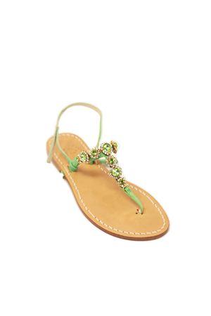 sandali capresi con gioiello verde Cuccurullo | 5032256 | FIORIVERDIVERDE