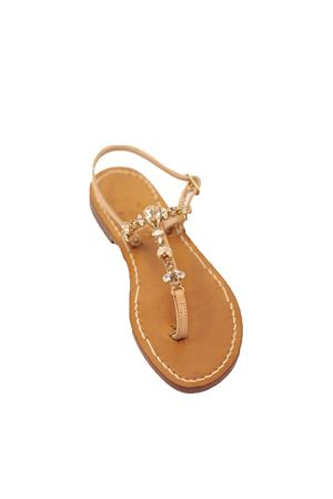 Golden jewel sandals with bee  Cuccurullo | 5032256 | GOLDENBEEGOLDENBEE
