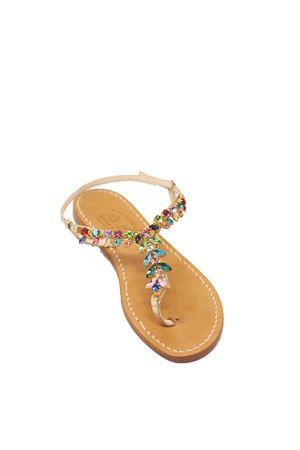 Multicolored jewel Capri sandals  Cuccurullo | 5032256 | MULTICOLOREDMULTI