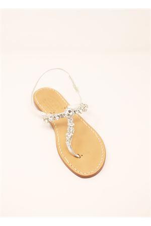 Crystal jewel sandals  Cuccurullo | 5032256 | SILVERCRYSTALARGENTO