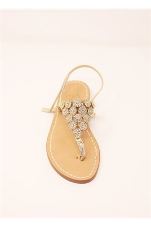 Golden jewel Capri sandals  Cuccurullo | 5032256 | TRIANGOLOROORO