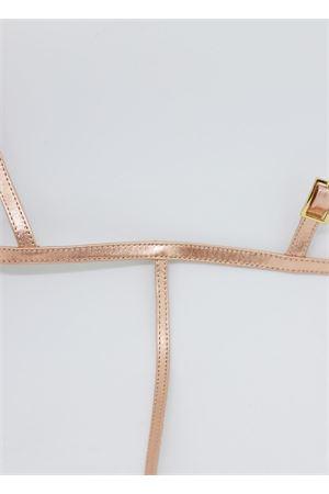 Pink laminated flip flop sandals Da Costanzo | 5032256 | 2059ORO ROSA