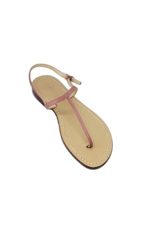 Antique pink flip flop sandals Da Costanzo | 5032256 | 2059ROSA ANTICO