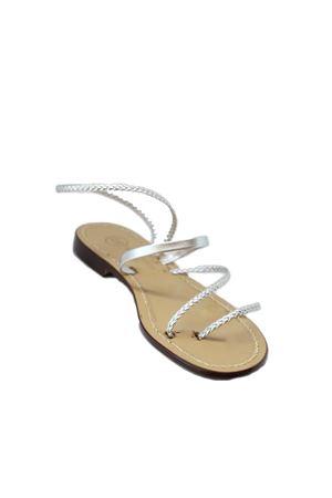 Capri sandals with silver stripes Da Costanzo | 5032256 | CAPPIO TRECCINAARGENTO