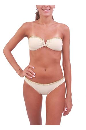 Woman gold bathing suit Stefania Montesano Capri | 85 | FASCIAORO