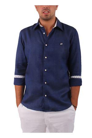 Camicia in lino Colori Di Capri   6   CAM SLIM LINO UBLU