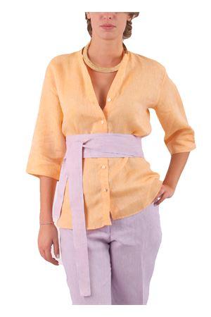 Camicia in lino Colori Di Capri | 6 | CAMICIA COREANA COLORARANCIO