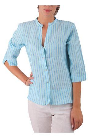 Camicia in lino Colori Di Capri | 6 | CAMICIACOREANARIGHETURCHESE