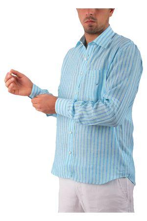 Camicia in lino Colori Di Capri | 6 | CAMICIALINO UTURCHESE RIGA AZZURRA