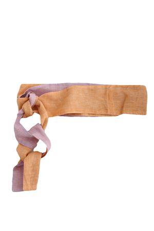 Cintura in lino Colori Di Capri | 22 | COLOR BELTLILLA/ARANCIO