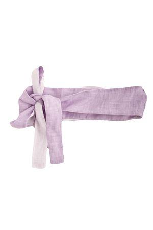 Cintura in lino Colori Di Capri | 22 | COLOR BELTLILLA/BIANCO