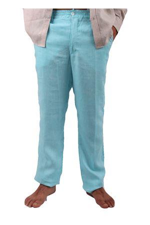 Pantaloni in lino Colori Di Capri | 9 | PANTALINO UAZZURRO