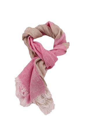 Customizable linen scarf Colori Di Capri | 77 | SCIARPA PERSONALIZZABILEFUXIA RIGA BEIGE