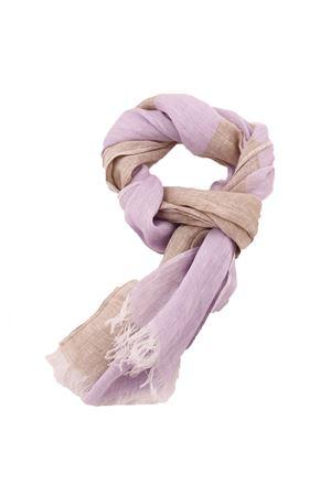 Customizable linen scarf Colori Di Capri | 77 | SCIARPA PERSONALIZZABILELILLA RIGA BEIGE