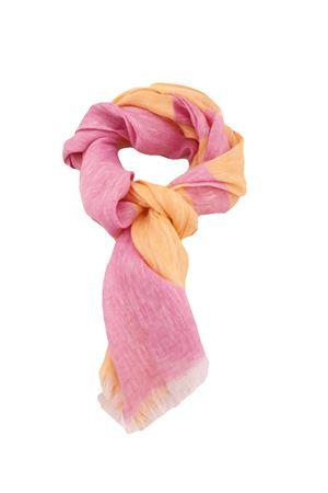 Linen scarf Colori Di Capri | 77 | STRIPESCARFARANCIO/FUXIA