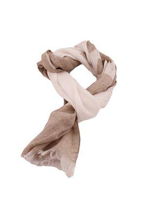 Linen scarf Colori Di Capri | 77 | STRIPESCARFBEIGE/BIANCA