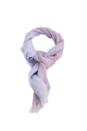 Sciarpa bicolore in puro lino Colori Di Capri | 77 | STRIPESCARFCELESTE/LILLA