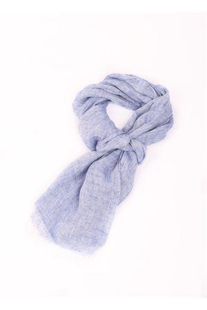 Sciarpa azzurra in puro lino Colori Di Capri | 77 | TU SCARFAZOR