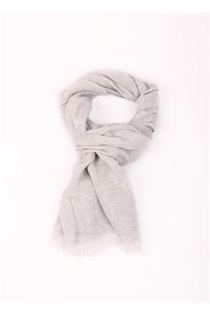 Sciarpa grigio chiaro in lino Colori Di Capri | 77 | TU SCARFFUMO