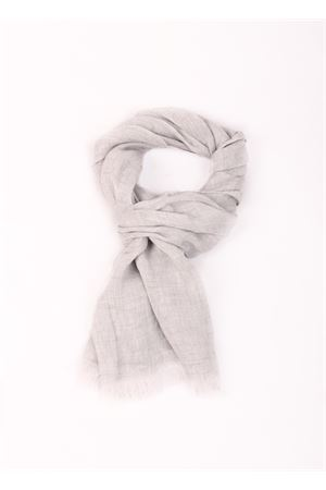 Grey Linen scarf Colori Di Capri | 77 | TU SCARFFUMO