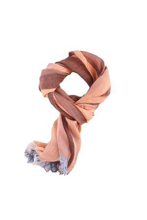 Linen bicolored scarf Colori Di Capri | 77 | TU4STRIPESARANCIO