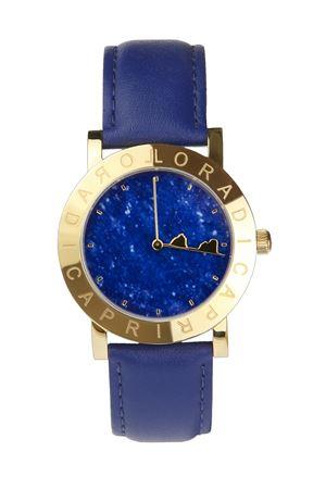 Orologio da polso Faraglioni con cinturino in pelle blu L