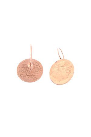 Orecchini bagnati in oro rosa a forma di moneta Alessandro Balsamo | 48 | ORECCHINI MONETAROSA