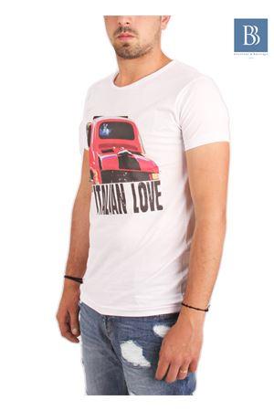 Maglia in cotone da uomo Fiat 500 Aram V Capri | 7 | TSHGP500BIANCO
