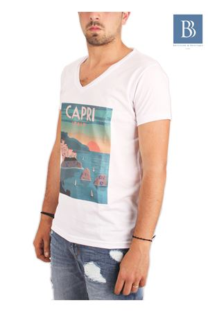 Maglia in cotone da uomo Capri Vintage Aram V Capri | 7 | TSHVPCVBIANCO