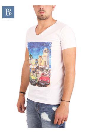 Maglia in cotone da uomo Capri Vintage Aram Capri | 7 | TSHVPTXBIANCO