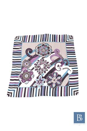 Silk scarf Capri Chic | -709280361 | FIORI RIGATOGRIGIO
